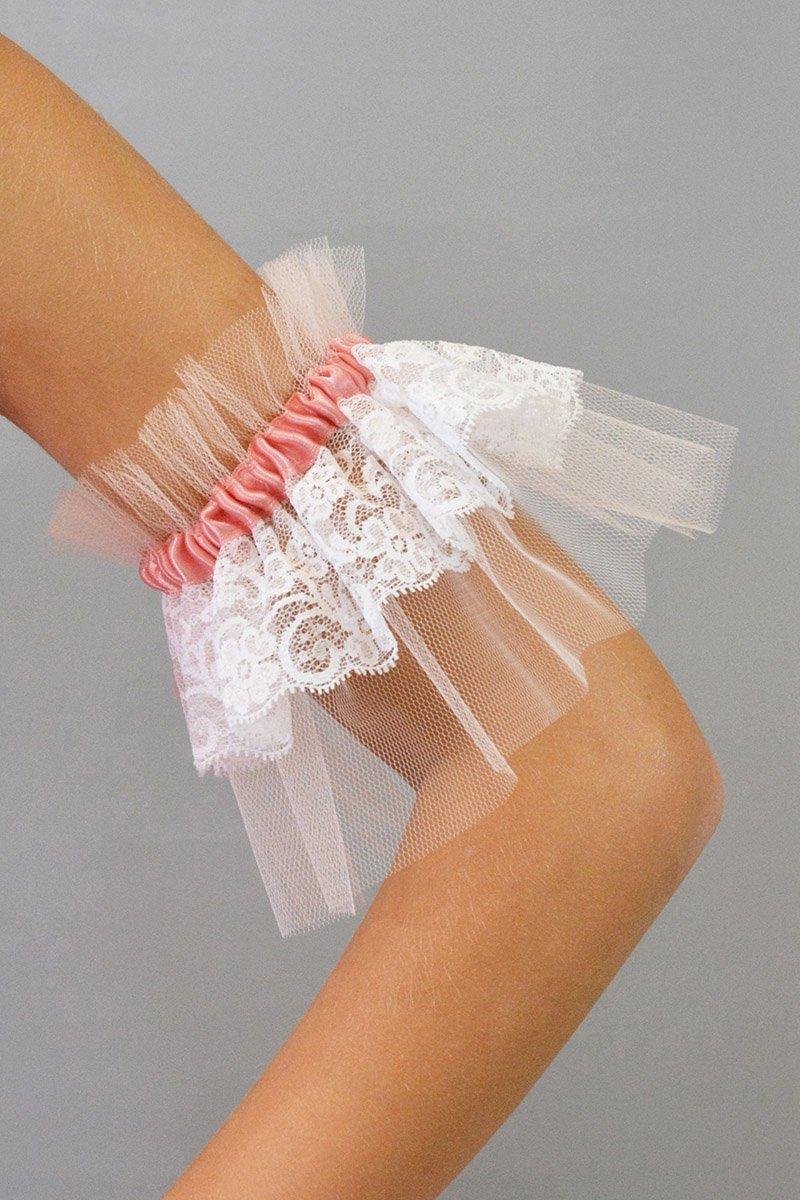 1014 Manicotti in tulle o scintilla con rifiniture in pizzo e raso prodotti    Atelier della Danza
