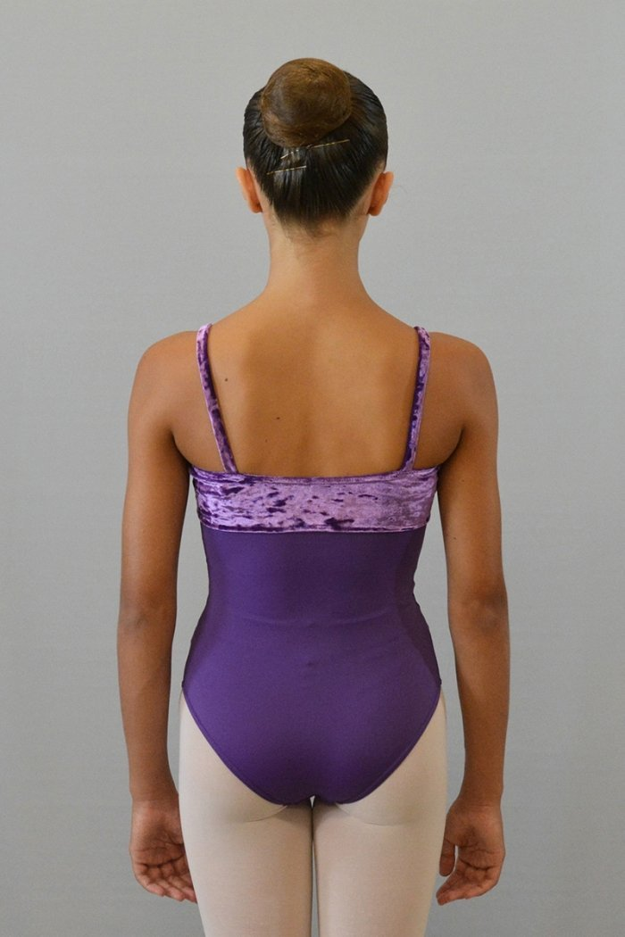 103/C Body con bretelle sottili. Parte superiore in ciniglia prodotti    Atelier della Danza