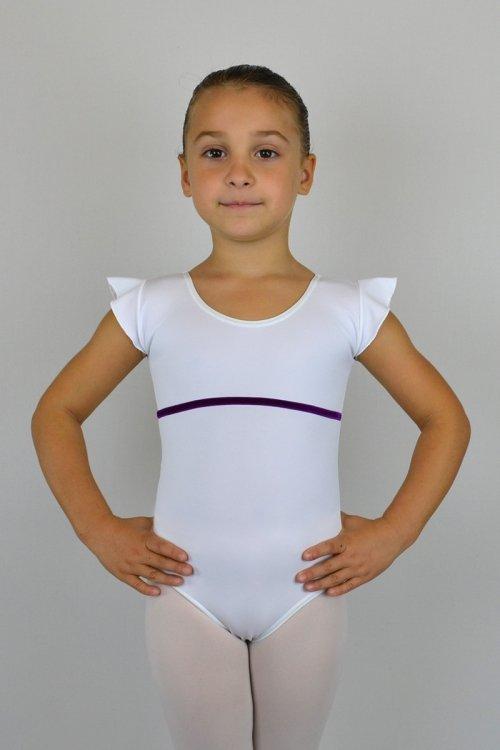 105/A Body con aletta sulla spalla. Velluto sotto seno davanti prodotti    Atelier della Danza