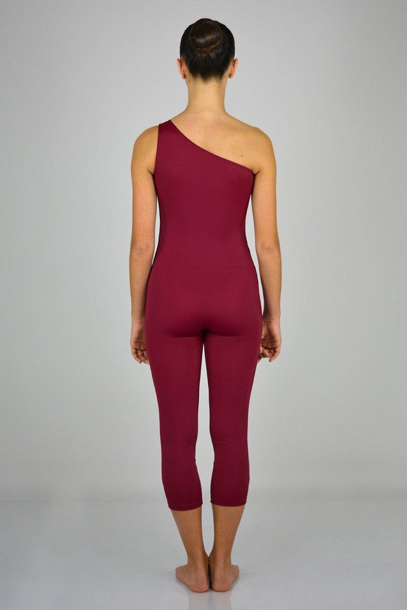 1195 Tuta monospalla con gamba lunga al polpaccio. prodotti    Atelier della Danza