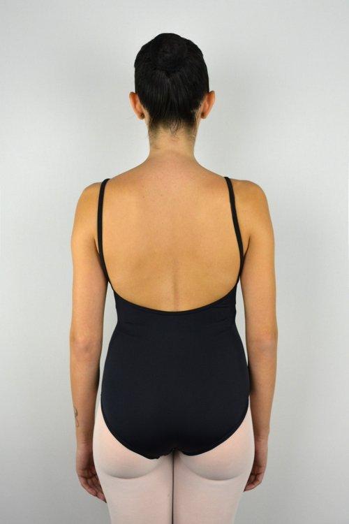 120 Body con bretelle sottili. Scavo profondo schiena. prodotti    Atelier della Danza