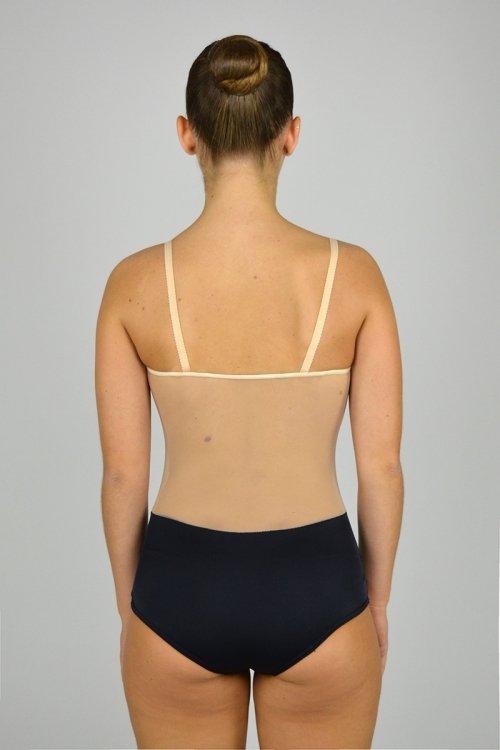 """1224 Tuta a coulotte """"anni 50"""" Bretelle sottili. Pancia e schiena in retina. prodotti    Atelier della Danza"""