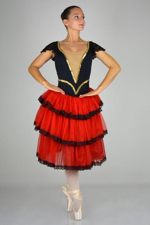 Kitri Mod. 1456 - Gonna in scintilla - 3 balze - h da 30 a 80 cm prodotti    Atelier della Danza