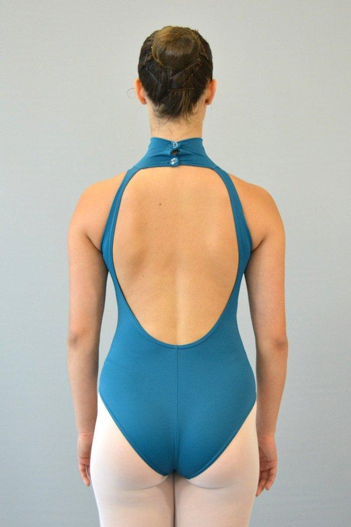 """174 Body """"americano"""" con collo alto. Schiena profonda prodotti    Atelier della Danza"""