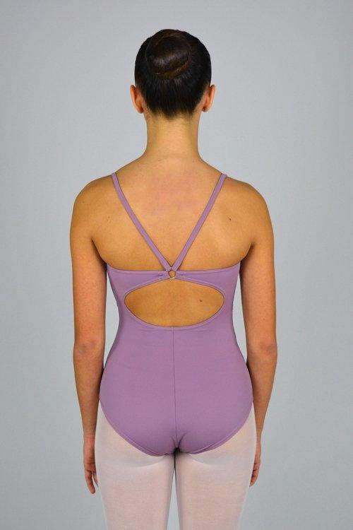 179/A Body con bretelle sottili e anella nella schiena. Velluto sotto seno davanti prodotti    Atelier della Danza