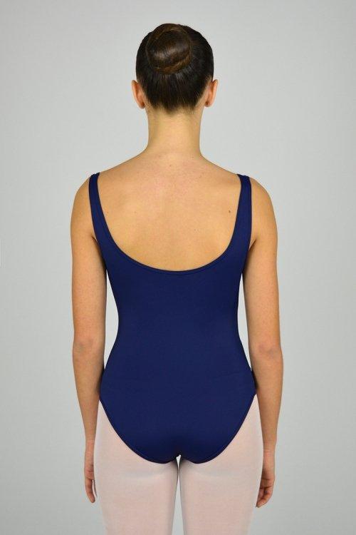 227/C Body con spalla sottile. Riprese davanti. Parte centrale in ciniglia prodotti    Atelier della Danza