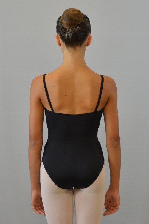 244/C Body con bretelle sottili. Riprese davanti. Parte centrale in ciniglia prodotti    Atelier della Danza
