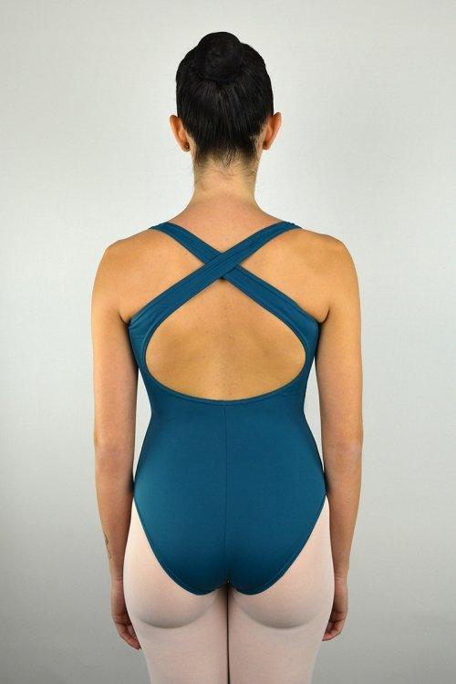 251 Body con spalle sottili incrociate dietro. Schiena nuda prodotti    Atelier della Danza