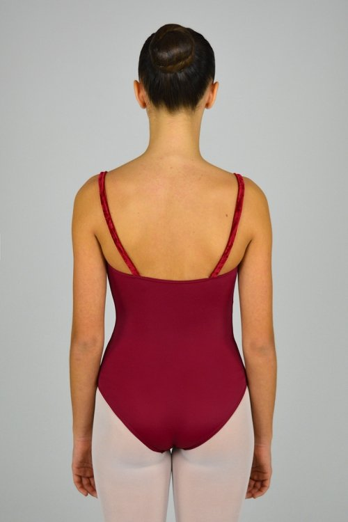 252/C Body con riprese davanti. Scavo seno in retina. Parte centrale in ciniglia prodotti    Atelier della Danza