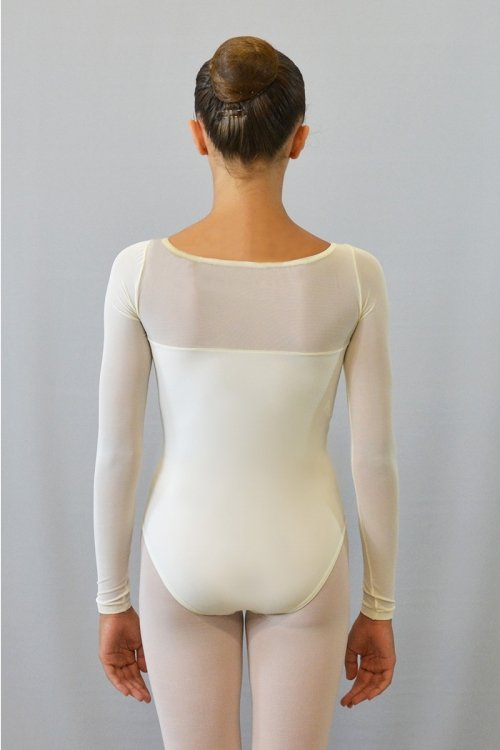 253 Body con manica lunga. Parte superiore in retina prodotti    Atelier della Danza