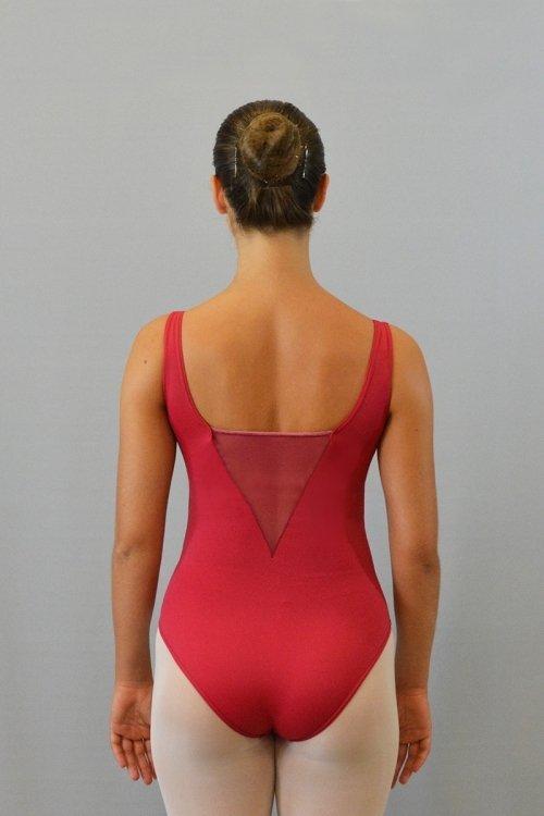295 Body con spalla sottile. Scavo profondo davanti e dietro in retina prodotti    Atelier della Danza