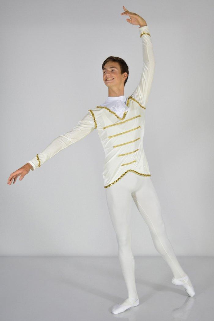 3001 Giacca: rifiniture in passamaneria Oro o Argento. Colletto con rouche prodotti    Atelier della Danza