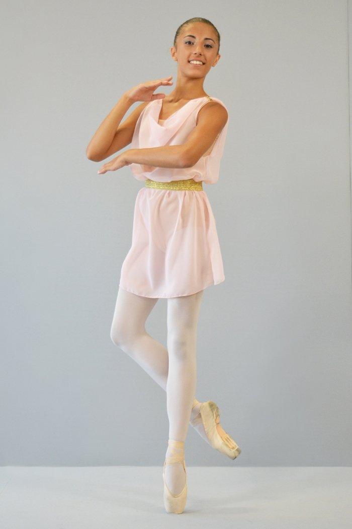 Amorino Mod. 328 - In voile con cintura ORO/ARGENTO prodotti    Atelier della Danza