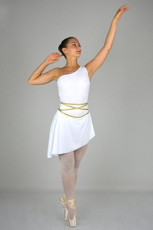 Greca Mod. 334 - Abito con rifiniture Oro o Argento prodotti    Atelier della Danza