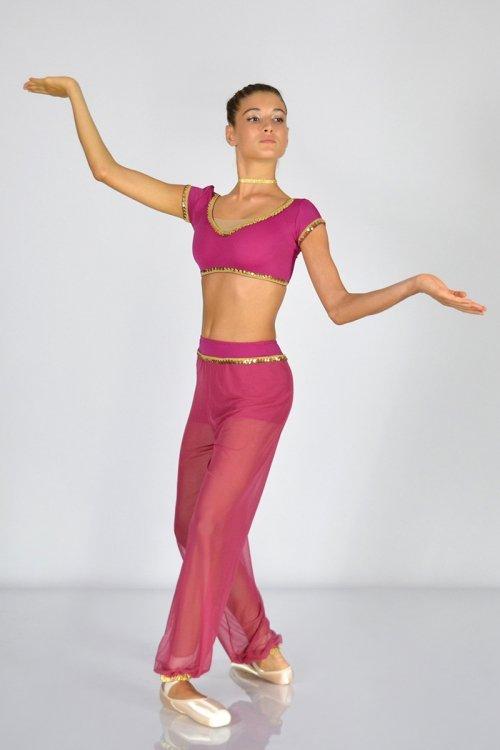 Araba Mod. 396 - Completo con top e pantalone in retina. prodotti    Atelier della Danza