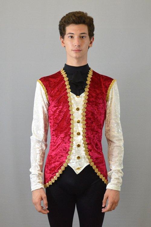 564 Giacca Principe con bottoni davanti. Colletto con rouche prodotti    Atelier della Danza