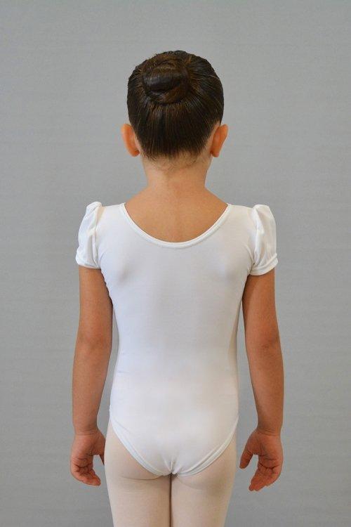 8002/A Body con manichina a sbuffo. Velluto sotto il seno davanti prodotti    Atelier della Danza