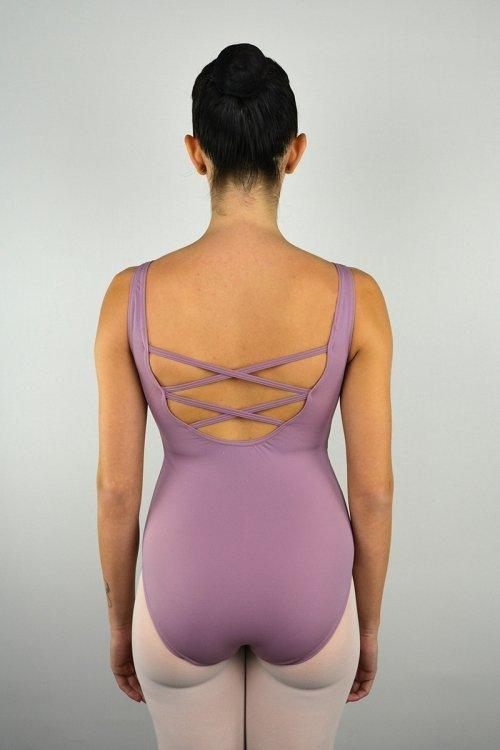 8032 Body con spalla sottile. Schiena con incroci. Taglio sotto il seno. Riprese davanti. prodotti    Atelier della Danza