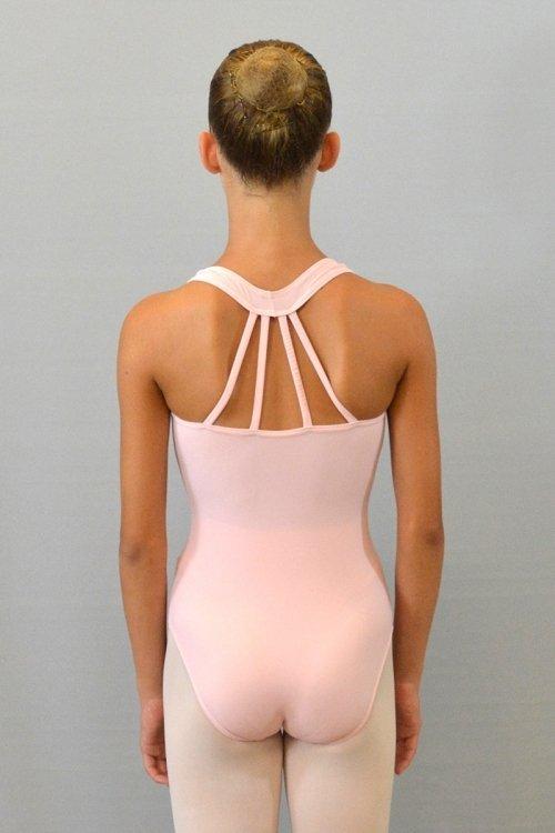 """8056 Body con girocollo """"americano"""". Bretelle decorative sulla schiena prodotti    Atelier della Danza"""