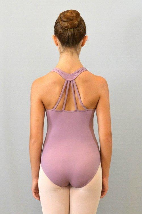 """8056/A Body con girocollo """"americano"""". Bretelle decorative sulla schiena. Velluto sotto seno davanti prodotti    Atelier della Danza"""
