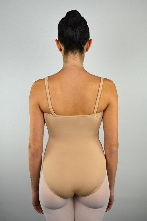 8063 Body con bretelle sottili. SGAMBATURA ALTA prodotti    Atelier della Danza