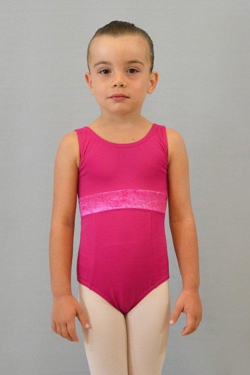 8121/C Body con spalla sottile. Riprese davanti. Fascia sotto il seno in ciniglia prodotti    Atelier della Danza