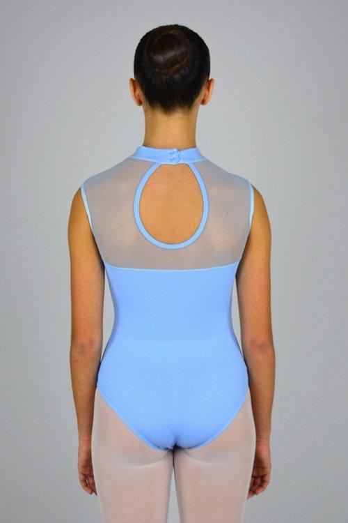 8195 Body smanicato. Collo alto. Parte superiore in retina prodotti    Atelier della Danza