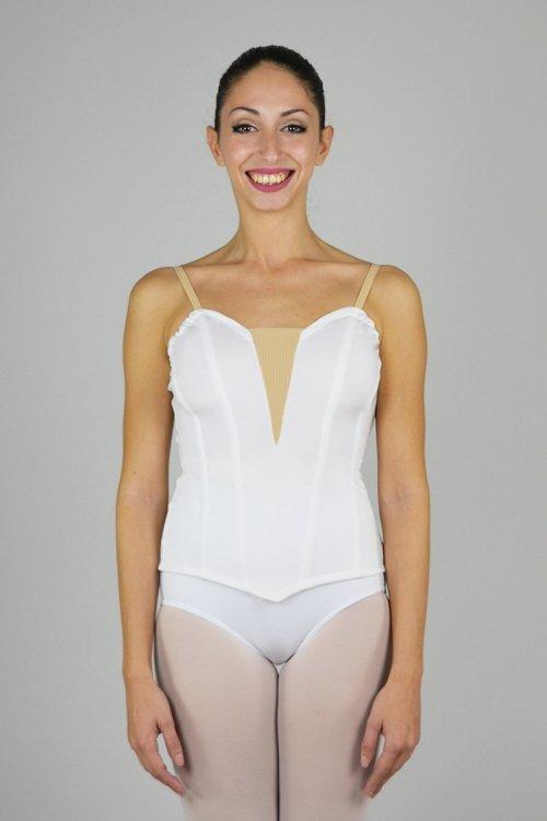 902 Bustino con scavo seno in retina - senza stecche prodotti    Atelier della Danza