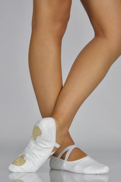 C251 Bianco Mezze Punte - IN TESSUTO ELASTICIZZATO - Suola Spezzata prodotti    Atelier della Danza