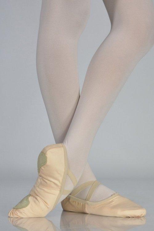 C251ROSA Mezze Punte - IN TESSUTO ELASTICIZZATO - Suola Spezzata prodotti Atelier della Danza